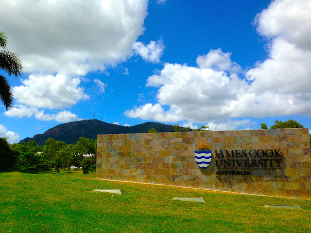 The front entrance to James Cook University in Townsville, Australia